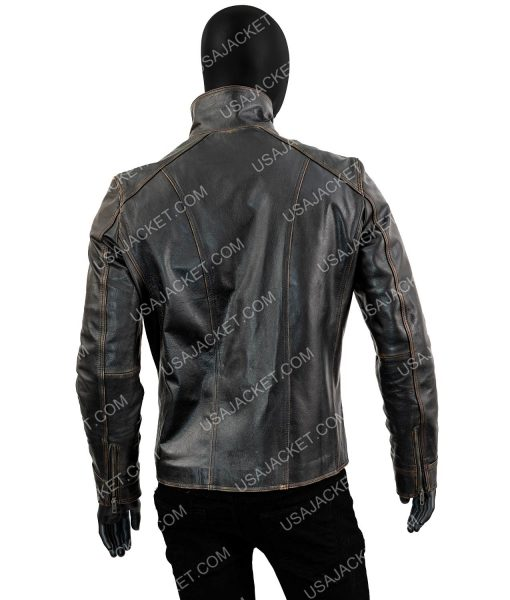 Mens Black Rivet Jacket