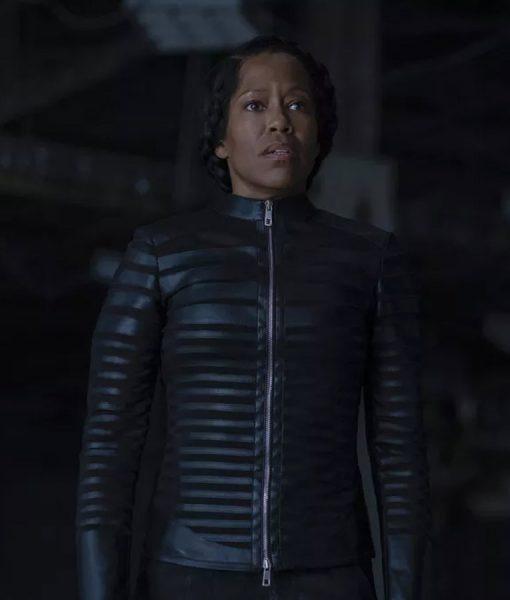 Black Leather Watchmen Regina King Jacket