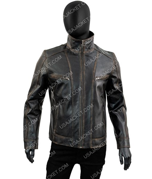 Black Rivet Moto Leather Jacket