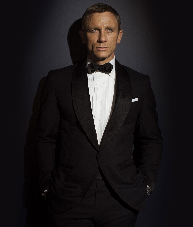 James Bond Quantum Of Solace Tuxedo - Daniel Craig Black ...