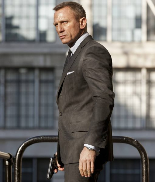 James Bond Skyfall Charcoal Grey Pinstripe Suit