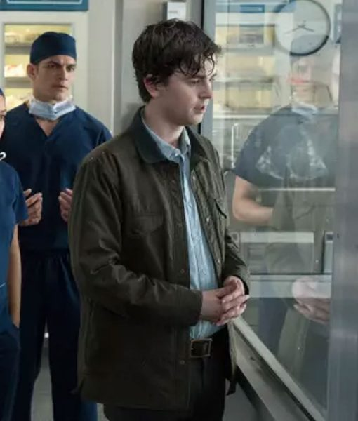 The Good Doctor Freddie Highmore Brown Cotton Jacket