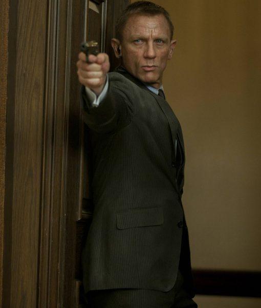 Daniel Craig Skyfall Charcoal Grey Suit