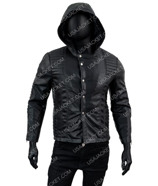 Jace Wayland Mortal Instruments Leather Jacket With Hood