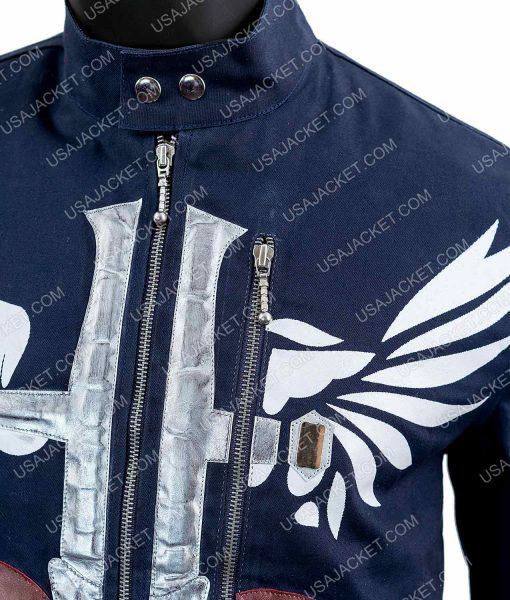 Jon Bon Jovi Blue Cotton Jacket