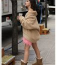 Katy Keene Brown Sherpa Oversize Jacket