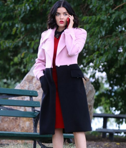 Katy Keene Pink and Black Trench Coat