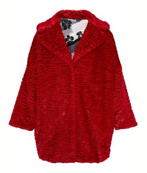 Katy Keene Red Fur Jacket
