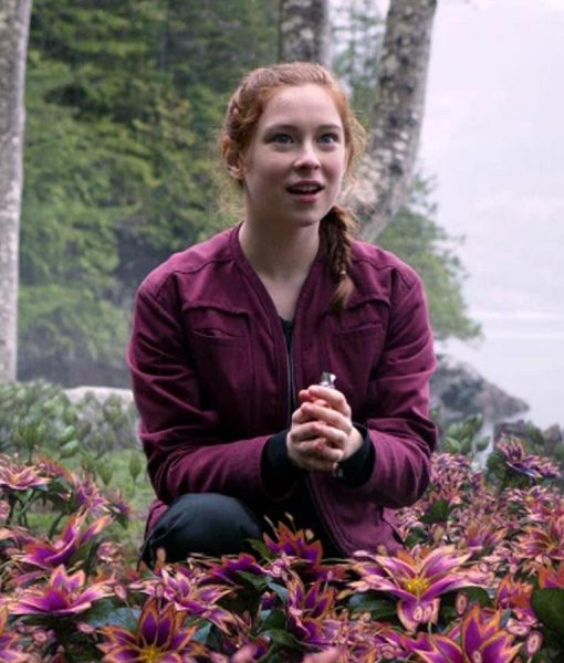 Lost In Space Mina Sundwall Red Jacket