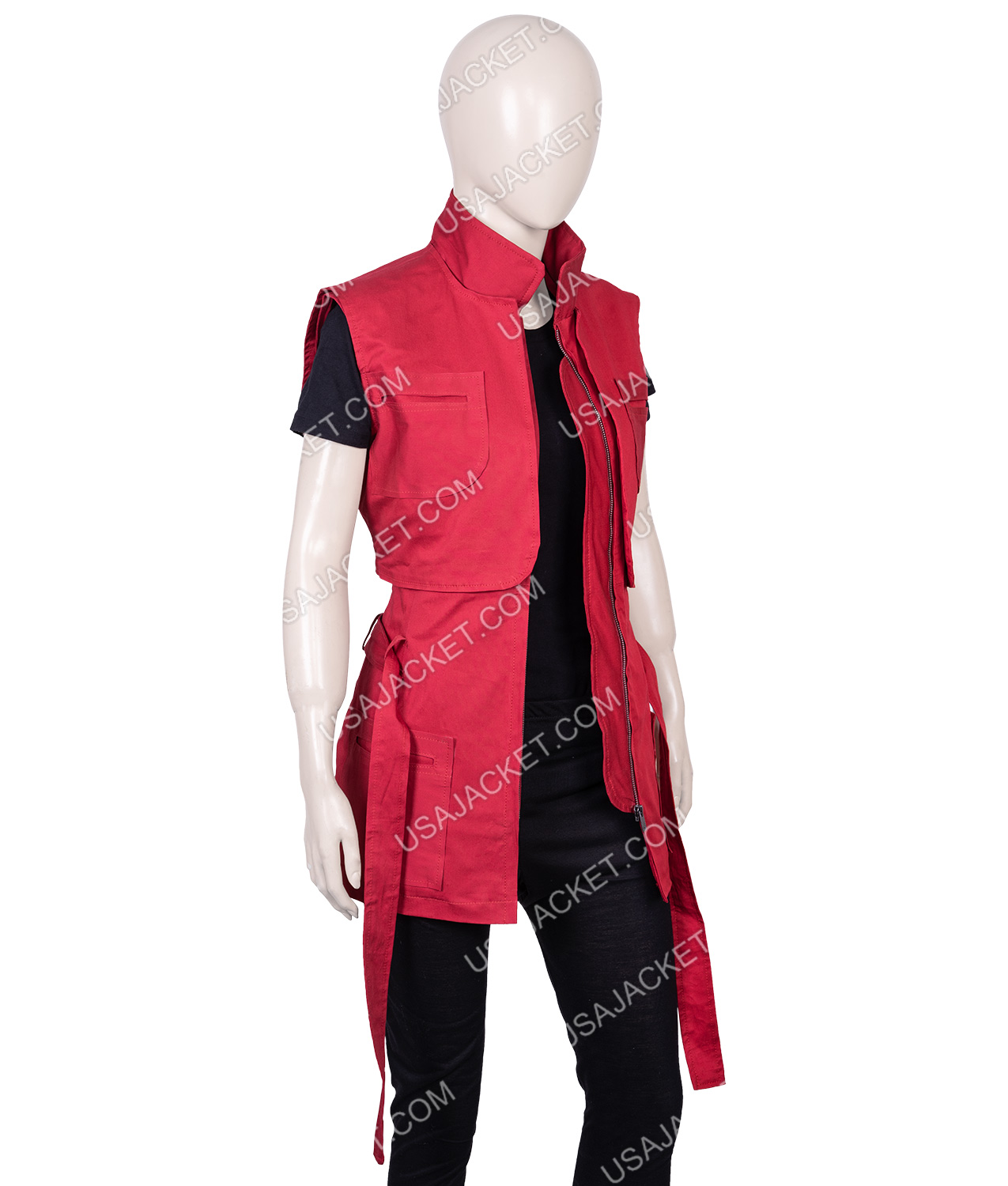 Lost In Space Season 02 Red Judy Robinson Vest Usajacket