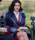 Lucy Hale Checked Coat
