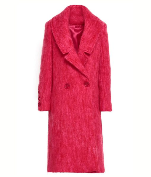 Lucy HalePink Double Breasted Katy Keene Trench Coat