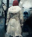 Lyra Belacqua His Dark Materials Beige Sheepskin Coat