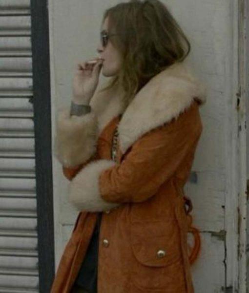 MR. Darlene Suede Leather Shearling Coat