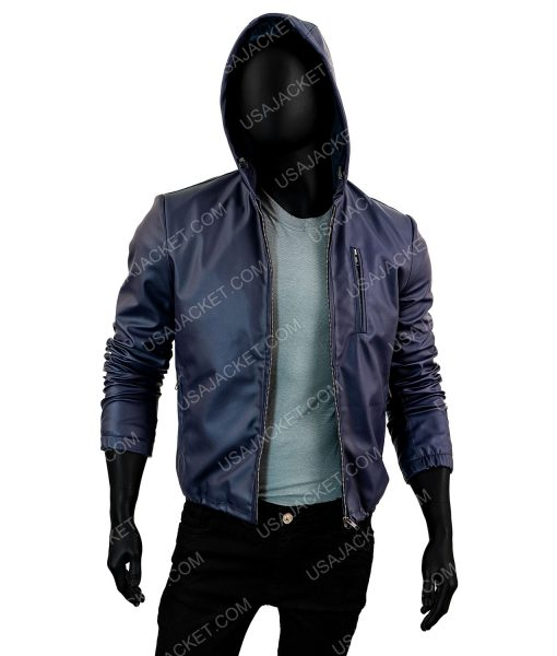 Mens Blue Jacket With Hood