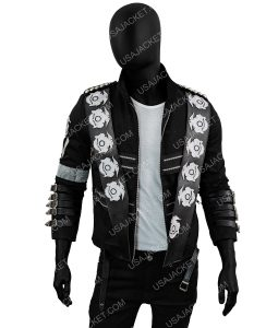 Michael Jackson BAD Silver Badges Jacket