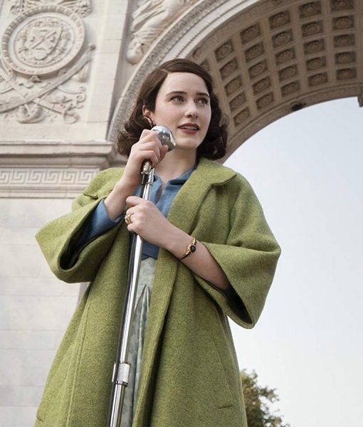 Rachel BrosnahanThe Marvelous Mrs. Maisel Green Trench Coat