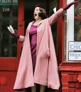 Miriam Maisel The Marvelous Mrs.Maisel Pink Trench Coat
