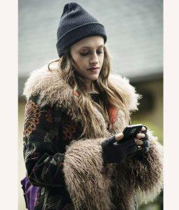 Carly Chaikin Mr. Robot Season 04 Darlene Fur Long Coat