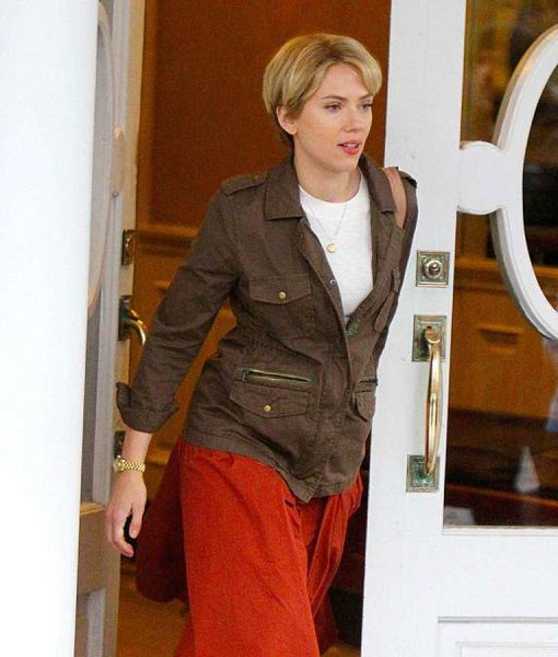 Scarlett Johansson Nicole Brown Jacket