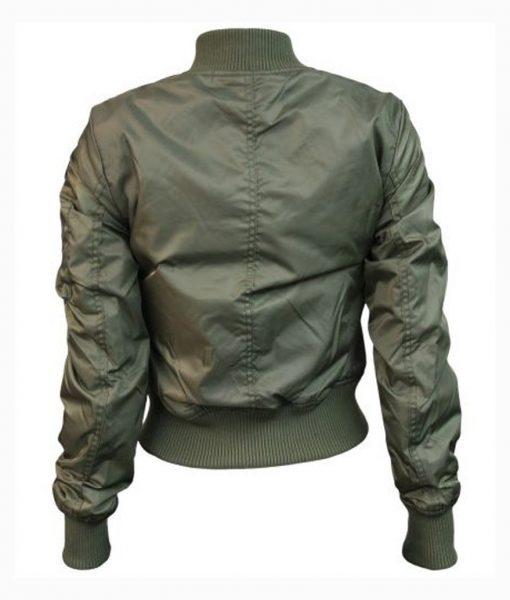 Womens Top Gun MA-1 Bomber Olive Jacket