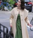 Rachel Brosnahan The Marvelous Mrs.Maisel Beige Coat
