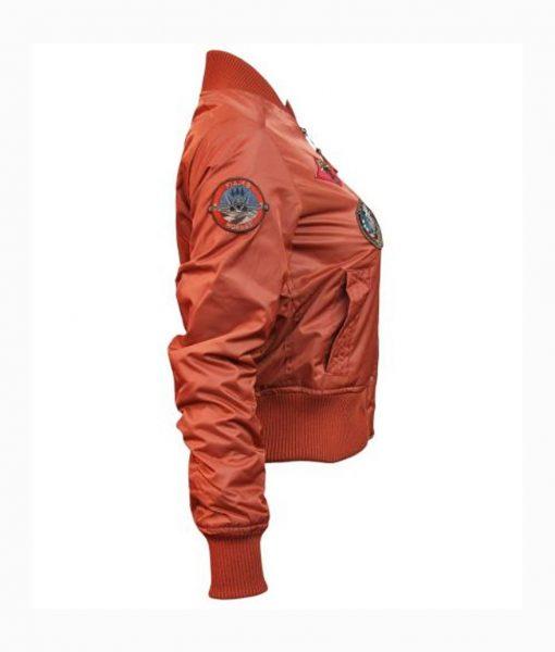 Womens Top gun MA-1 Rust Jacket