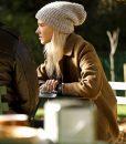 Sasha Luss Anna Brown Coat