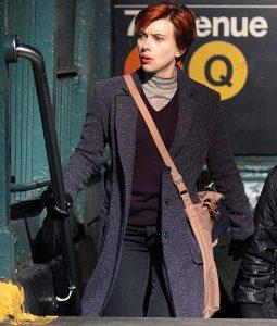 Marriage story Scarlett Johansson Wool-Blend Coat