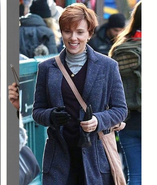 Marriage story Scarlett Johansson Wool-Blend Coat