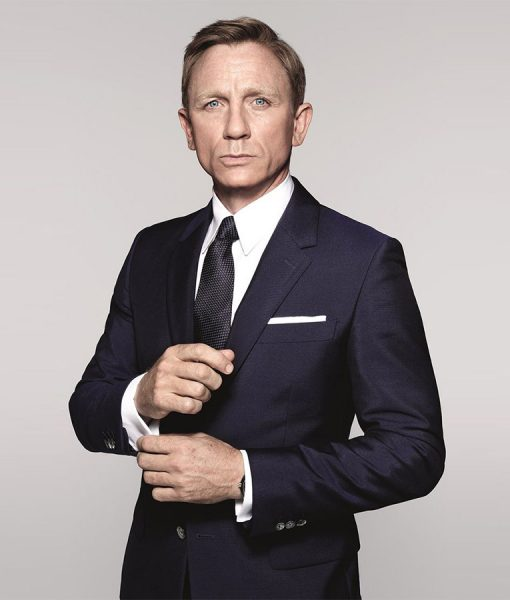 Spectre James Bond Blue Sharkskin Suit