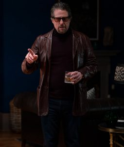 The Gentlemen Hugh Grant Leather Blazer