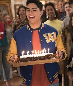 The Goldbergs Sixteen Candles Blue WP Logo Letterman Jacket