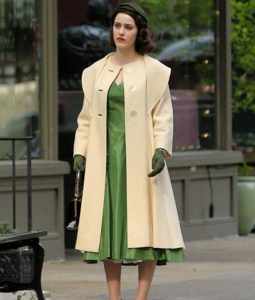The Marvelous Mrs.Maisel Miriam Midge Beige Trench Coat