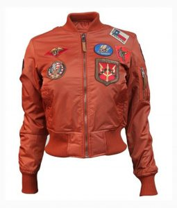 Rust Top Gun MA-1 Bomber Jacket