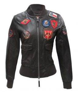 Top Gun Vegan Leather Brown Jacket