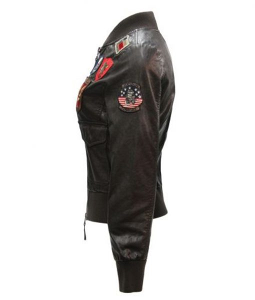 Top Gun Womens Vegan Leather Jacket