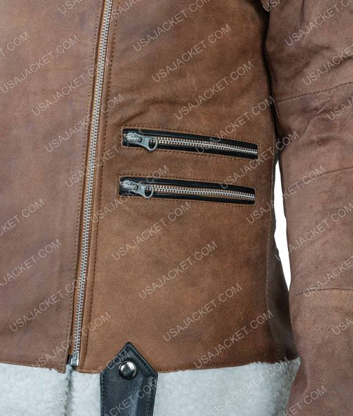 Virgin River Alexandra Breckenridge Brown Shearling Jacket