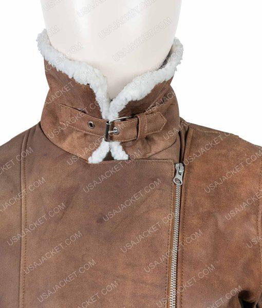 Virgin River Brown Shearling Melinda Monroe Jacket