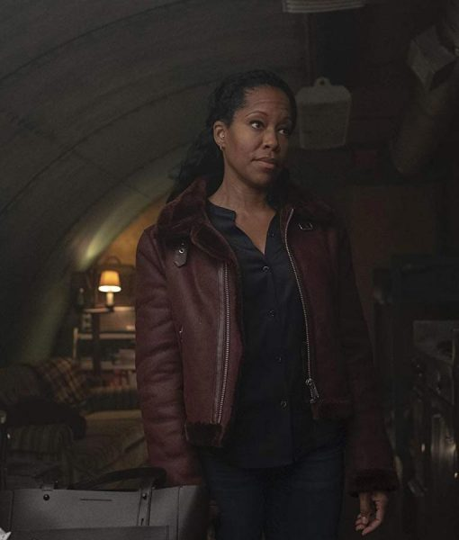 Watchmen Angela Abar Shearling Jacket