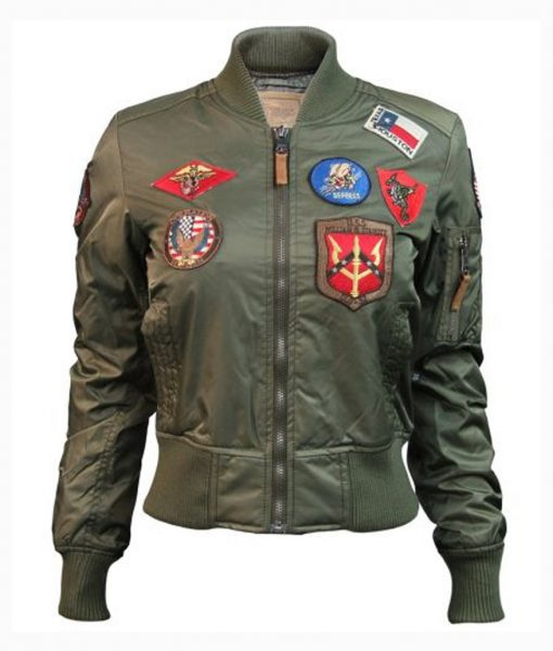Womens Olive Top Gun MA-1 Jacket