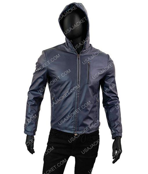 Wright Blue Leather Jacket
