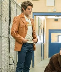 Ted Bundy Extremely Wicked, Shockingly Evil and Vile Leather Jacket