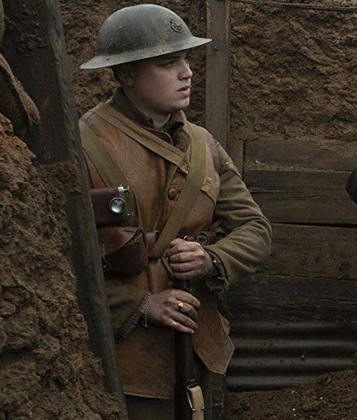 1917 Brown Leather Vest For Men's