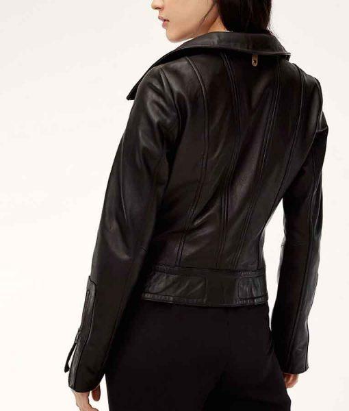 Arrow Season 08 MotorcycleCaity Lotz Leather Jacket
