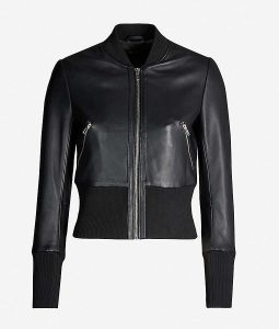 Arrow Season 08 Katie Cassidy Leather Bomber Jacket