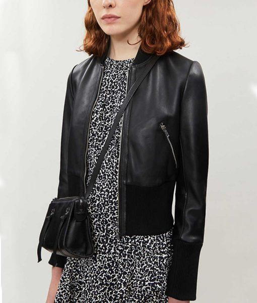 Arrow Season 08 Katie Cassidy Leather Bomber Jacket