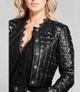 Batwoman Mary Hamilton black Leather Studded Jacket