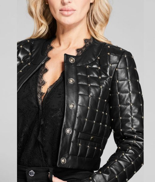Batwoman Mary Hamilton Black Leather Quilted Jacket