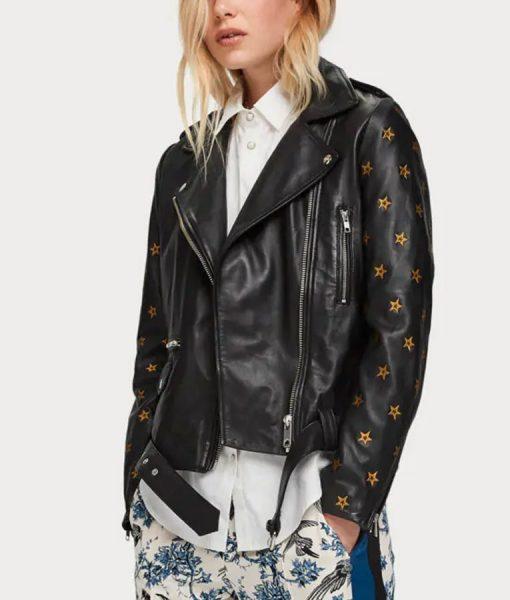Batwoman Nicole Kang Motorcycle Leather Jacket
